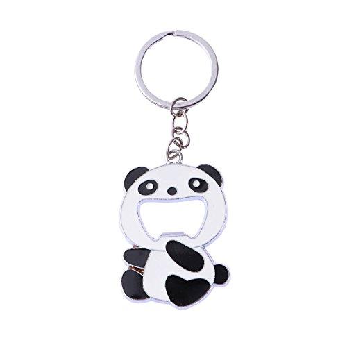 Toyvian Schlüsselanhänger von Panda Portable Beer Soda Flaschenöffner