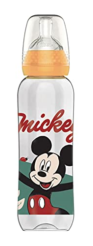 Disney Baby 80601917 - Biberón irrompible de silicona, diseño Mickey, para 6-18 meses, 330 ml