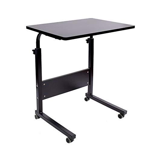 Escritorio portátil AIZ con ruedas, escritorio portátil con ruedas, carro de ordenador portátil, mesa auxiliar ajustable, pequeña...