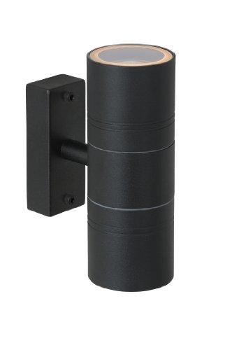 Lucide ARNE-LED - Spot Mural Extérieur - Ø 6,3 cm - LED - GU10 - 2x5W 2700K - IP44 - Noir