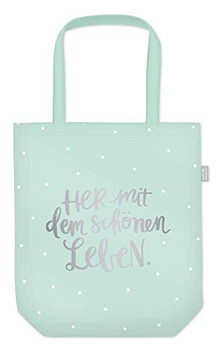 Grafik Werkstatt Einkaufstasche mit lustigem Spruch|Shopping-Bag faltbar | leichte Tasche | Schönes leben