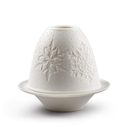 LLADRÓ Litofanía Navidad Copos De Nieve. Litofanía de Porcelana.
