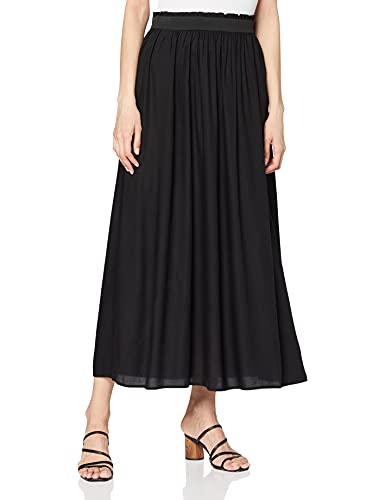 ONLY NOS Damen Onlvenedig Paperbag Long Skirt Wvn Noos Rock, Schwarz (Black), M