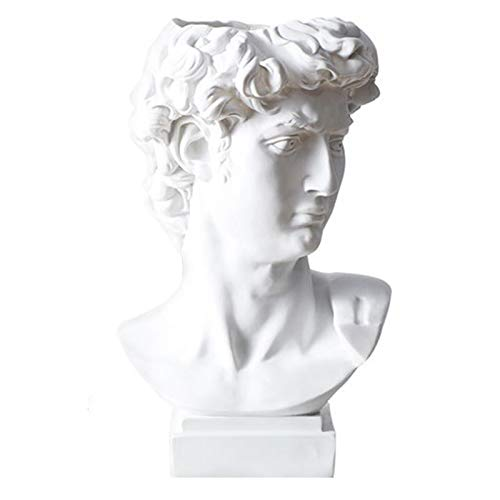 Canghai David Small Head Statue, Head Flower Pot Resin Statue Head And Bust Sculpture Statue Decoration Flower Pot Vase Garden Home Decoration