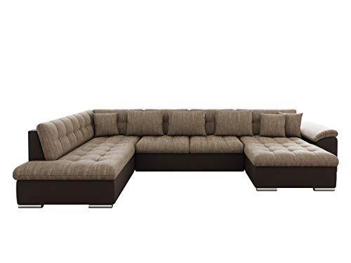 Mirjan24 Eckcouch Ecksofa Niko! Design Sofa Couch! mit Schlaffunktion! U-Sofa Große Farbauswahl! Wohnlandschaft! (Ecksofa Rechts, Soft 066 + Lawa 02)