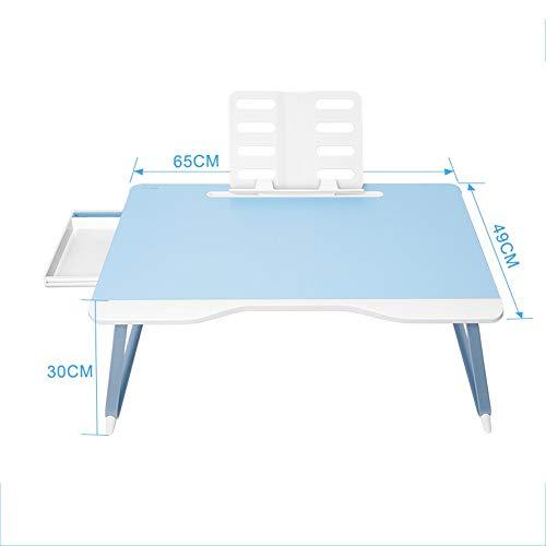 Tables HAIZHEN Pliable Bureau d'ordinateur Portable, Bureau Pliable avec Support et tiroir (Couleur : B)