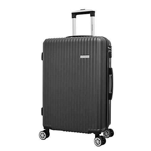 Mala de Viagem Média ABS c/4 Rodas Duplas 360º TSA Cinza Ys21051C-M