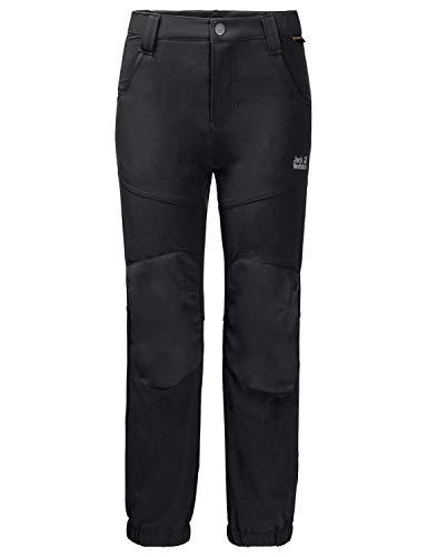 Jack Wolfskin Kinder Rascal Winter Pants Kids Atmungsaktiv Wind-und Wasserabweisend Softshell-Hose, schwarz (black), 164
