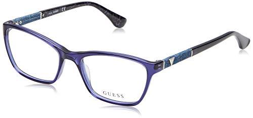 Guess Unisex-Erwachsene GU2594 090 52 Brillengestelle, Blau (Blu Luc)