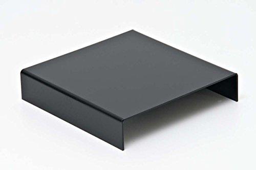 CLP Quadratisches Mini-Podest für Produktfotografie I Schwarzer Aufnahmetisch aus Acryl I Fotografie-Zubehör zum Erstellen von Produktfotos Schwarz