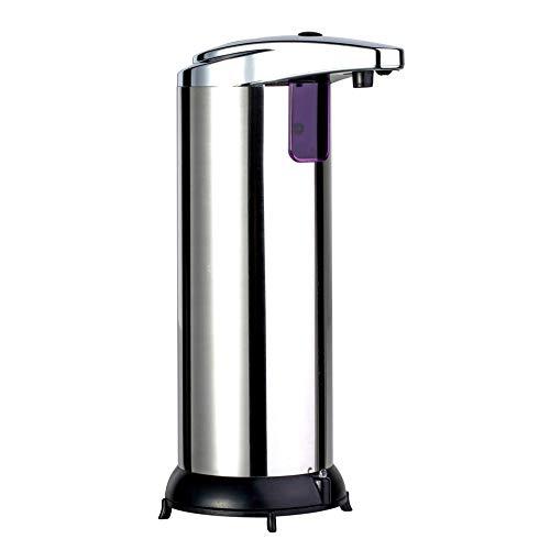 Turbobm Dispensador de jabón, Soporte desinfectante, dispensador de líquido, Bomba dispensadora automática de jabón Soporte de jabón líquido de Acero Inoxidable con detección de Infrarrojos
