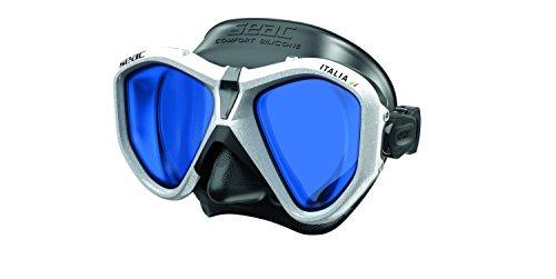 Seac Unisex– Erwachsene Italia Tauchmaske für professionelles und Freizeittauchen und Schnorcheln, schwarz/weiß LS, Asian Fit