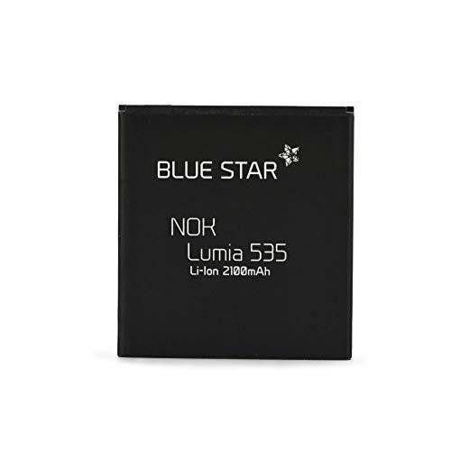 Bluestar Akku Ersatz kompatibel mit Nokia Lumia 535/535 Dual SIM 2100 mAh Austausch Batterie BL-L4A RM-1090