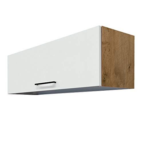 MMR Küchen-Klapphängeschrank GLASGOW - Küchenschrank - Hängeschrank - 100 cm breit - Creme Matt