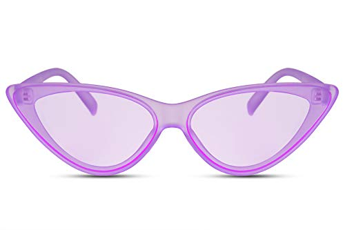 Cheapass Gafas Sol Cat Eye Designer Fashion Matt Purple
