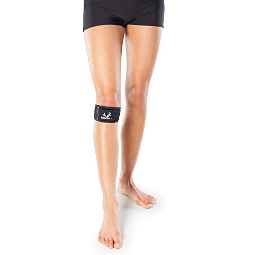 Adjustable Hypoallergenic Knee Strap with Gel Cushion for Patella Tendonitis, Osgood-Schlatter, and Patellofemoral Pain Relief - by BioSkin (L-XXL)