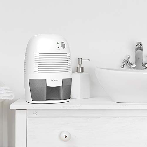 hOmeLabs Small Space Dehumidifier with Auto Shut Off - Quietly Extracts Moisture to Reduce Odor and Conditions That Can Lead to Allergies from Mold and Mildew - Compact and Portable