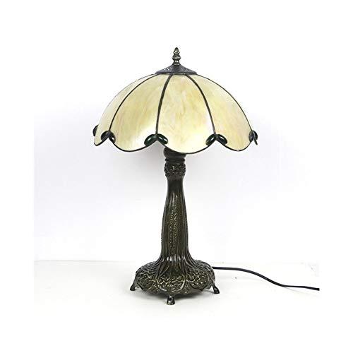 SCAYK Lámpara de Mesa de Cristal manchada de Estilo 16 Pulgadas de lámpara de 16 Pulgadas con 2 lámparas de recién Producto de la luz para dormitorios Lámpara de Noche
