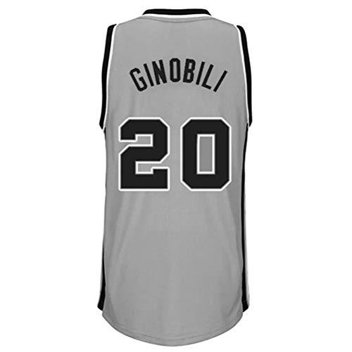 Rencai Manu Ginobili # 20 degli Uomini di Pallacanestro Jersey, San Antonio Spurs Sport Retro Swingman Maglie Senza Maniche (Color : 9, Size : XL)