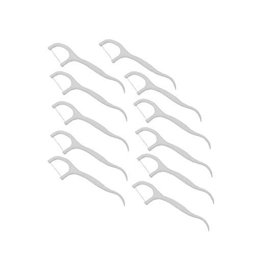Plástico Desechable Floss Floss Floss Recogida Duradero Con El Paquete Independiente Interdental Cuidado Palillos Dientes Blanco Herramientas De Limpieza 200 Pc