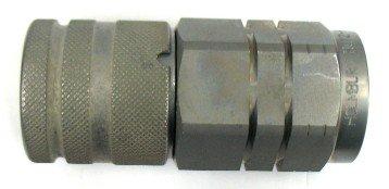 HQ Series 1.6 ID Holmbury HQ12-F-12N-V Flat Face Coupler Zinc Nickel Plated 3//4 NPT Female Thread Viton Seals 0.75 3//4 NPT Female Thread 1.6 ID 0.75 Holmbury Inc Carbon Steel 5075 PSI Max Working Pressure