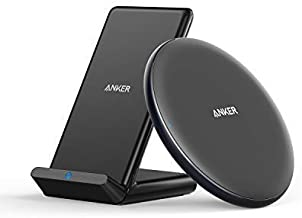 Anker Wireless Chargers Bundle, PowerWave Pad & Stand 10W, Compatible iPhone 11, 11 Pro, 11 Pro Max, XS Max, XR, XS, X, 8, 8 Plus, 10W for Galaxy S10 S9 S8, Note 10 Note 9 (AC Adapter Not Included)