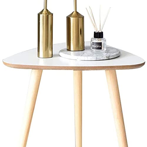 Mesa auxiliar del sofá, Mesa de snack de mesa lateral de sofá con acabado de madera para café LIBERA LIBERA LIBERA MODERNO MODERNO SIMPLE SIMPLY BLANCO DE MADERA (40 * 42.5cm) TABLA (TAMAÑO: A) , Mesa
