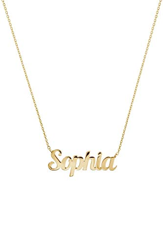 Yellow Gold Name Necklace