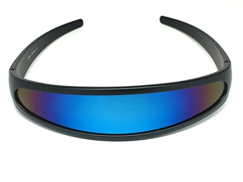 * Best Value * Low Cost Narrow Cyclops Shades. Choice of blue or black frame