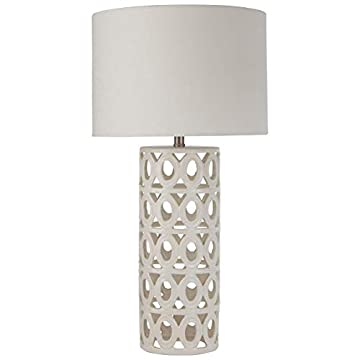 Stone & Beam Ceramic Geometric Farmhouse Lamp