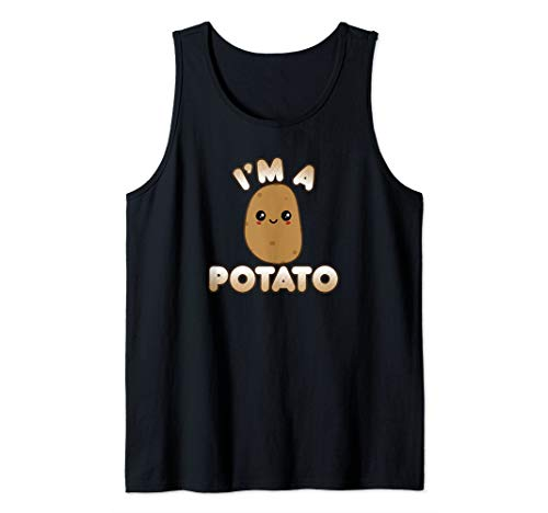 Funny Potato Costume Cute Kawaii Style Smiling I'm A Potato Tank Top