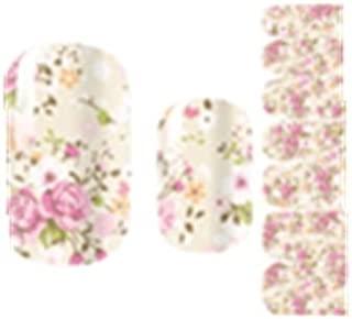 TBOP NAIL STICKERS easy quick nail art polish set of 14 pcs flower rose romantic Beige color Floral
