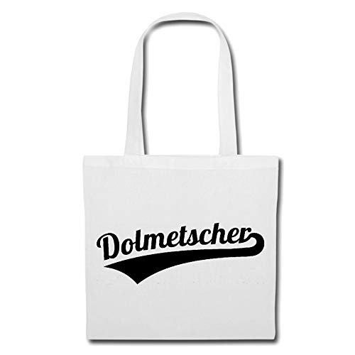 Tasche Umhängetasche DOLMETSCHER - DOLMETSCHERIN - ÜBERSETZER - FREMDSPRACHEN - FREMDSPRACHE Einkaufstasche Schulbeutel Turnbeutel in Weiß