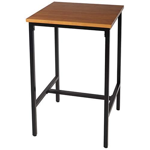 eSituro SBST0285 1 x Bartisch Esstisch Küchentisch Stehtisch Gartentisch Esstisch Tisch, Tischplatte aus hochwertigem Massivholz 66x66x110cm(BxTxH), Eiche