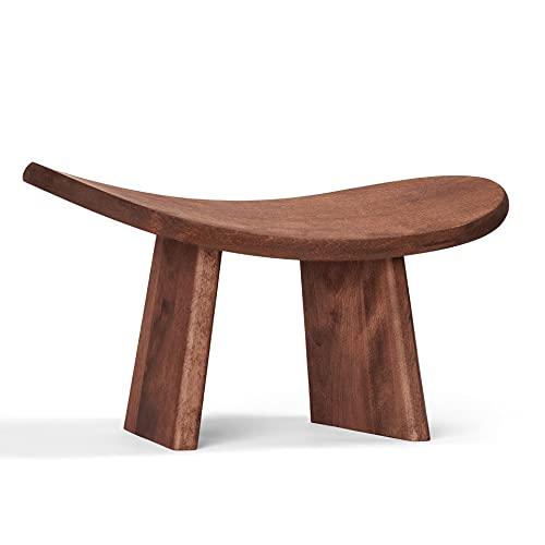 SPOKO Meditation Bench, Travel Version, The Original Posture Certified Wood Kneeling Stool, Best Ergonomic wooden Chair, Perfect Low Seat, Yoga, Prayer, Seiza and Kids, no Cushion