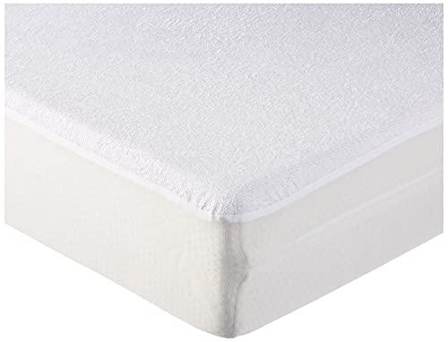 Cándido Penalba Super - Protector de colchón, rizo impermeable, 90 x 190/200 cm, blanco