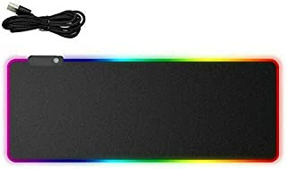 RGB LED Gaming Mouse Pad Desk Mat Extend Anti-Slip Rubber Speed Mousepad (900 X 400 MM)
