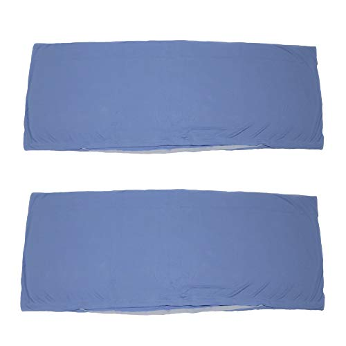 Economy 2er Pack Seitenschläferkissen Bezug Kissenbezug Schwangerschaftskissen Körperkissen 40 x 120 cm Baumwolle (Hellblau)