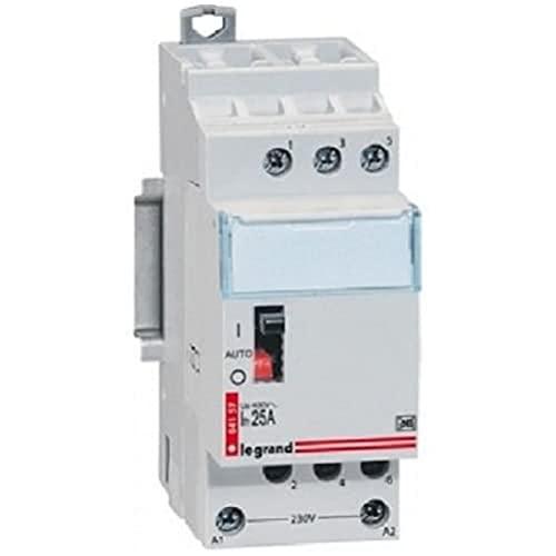 Legrand 092754 Contacteur pour Tarifs Heures Creuses, Tripolaire, 400 V, 20A, 2 Modules, Gris
