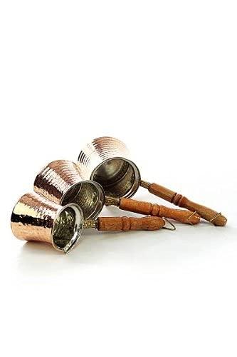 Copper Garden Mokkakanne aus Kupfer I Ibrik aus lebensmittelecht verzinntem Kupfer mit Holzgriff I Mittelgroße Kupferkanne zum Milchaufwärmen (für Kaffee) oder zum echten Mokka Kochen - 9
