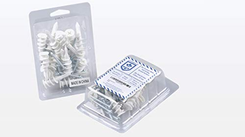 Steinbach Drywall Anchors with Steel Drywall Screws | Kit 40 pcs - Plastic Self-Drilling Drywall Anchor For Plasterboard Gypsum Board | Kit for Hanging Frames Hooks Accessories On Wall Anchors & More.