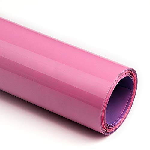 SHOMKIEE PU Matte Heat Transfer Vinyl HTV Iron on Rolls 12Inches x 5 feet Rolls for T Shirt Stretchable for Silhouette and Cameo D 13 (Pink)