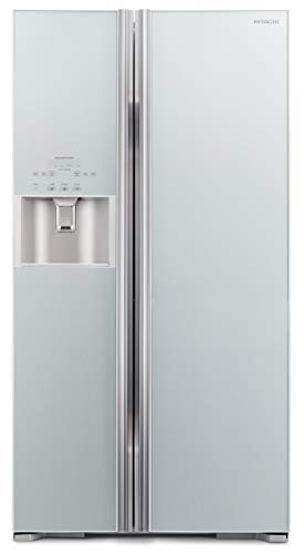 Hitachi 700L Side By Side Refrigerator Inverter Series Water Dispenser with Automatic Ice Maker Glass Grey RS700GPUK2GS…
