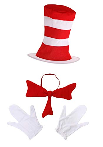 Dr. Seuss Cat in The Hat Costume Accessories for Kids Red