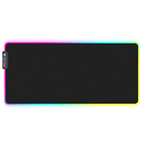Haofengjing 1 Stück Xl/L/Rgb Leuchtendes Gaming-Mauspad Buntes, Übergroßes, Leuchtendes Usb-Led Erweiterte Beleuchtete Tastatur Rutschfeste Deckenmatte