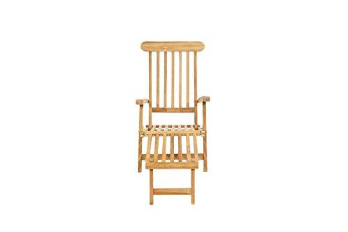 Ploß Ploß Outdoor furniture Titanic Deckchair, Teak Natur, 166 x 60 x 96 cm