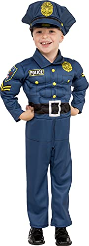 Rubies - Disfraz de policia para nio, talla 5-7 aos (Rubies 510332-M)