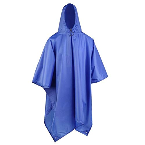 ghfcffdghrdshdfh 3 en 1 Multifunctional Raincoat Outdoor Camping Hiking Travel Rain Poncho...