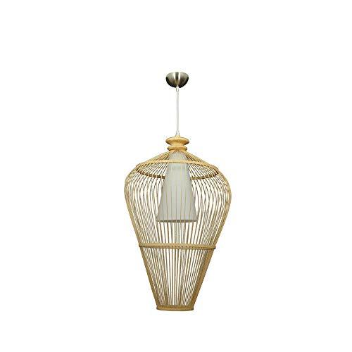 Zpzzy Creativo bambú y ratán Colgante luz jardín Chino ratán Arte de rattlight Hecho a Mano bambú de Mimbre araña e27 bambú Arte Colgante Luces Sala de Estar Sala de Estar Sala de Estar Pasillo