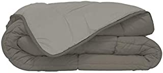 Couette bicolore Polyester Taupe/Lin 240 x 260 cm - POYET MOTTE - Gamme CALGARY